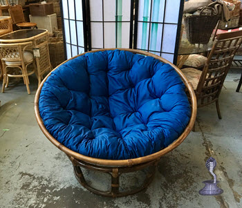 Delightful Kapok Cushion For Papasan Chair U2013 120 Cm Royal Blue