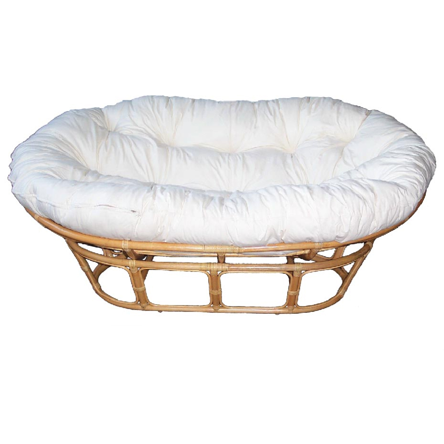 Papasan SETTEE Natural Frame & Dacron Cushion