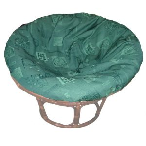 Papasan Chair Natural Frame, DACRON Cushion & Promo Cover