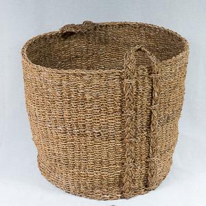 Round Seagrass Log Basket