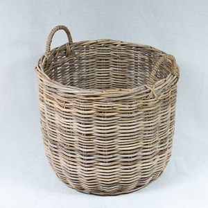 Round log basket - Kubu Grey