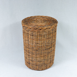 Round Laundry Hamper - available in natural or kubu grey