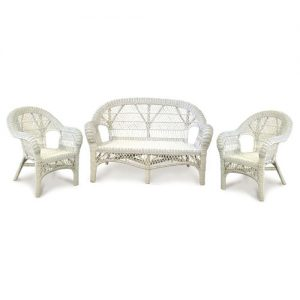 Lattice Wicker Cane Lounge Suite