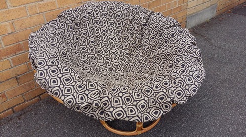 Foam papasan cushion with removable zip on cover