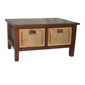 Raffles Coffee Table, 2 Drawers, Antique