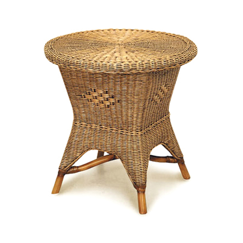 Grand Bermuda Round Side Table, No Shelf