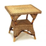 Grand Bermuda Square Side Table, with Shelf