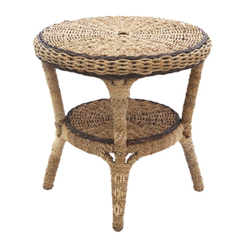 Kensington Seagrass Round Side Table