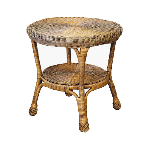 Windsor Wicker Round Side Table
