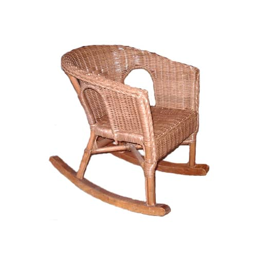 Fabian Cane Childs Chair, Rocking, Teak