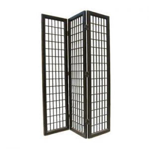 3 Panel Black Lacquer Fuji Screen