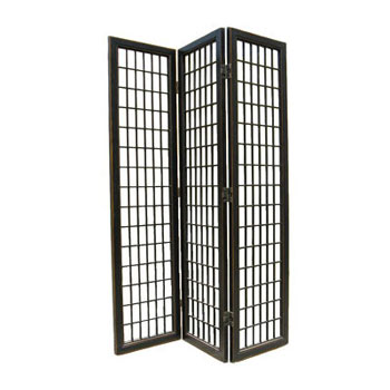 3 Panel Black Lacquer Fuji Screen
