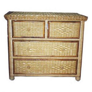 Melanie 4 Drawer Wicker Chest, Split