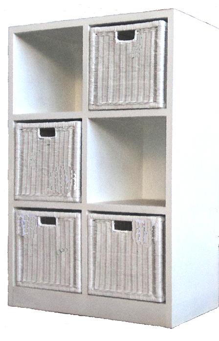 Toy Storage Shelfs, 3 Drawers, White