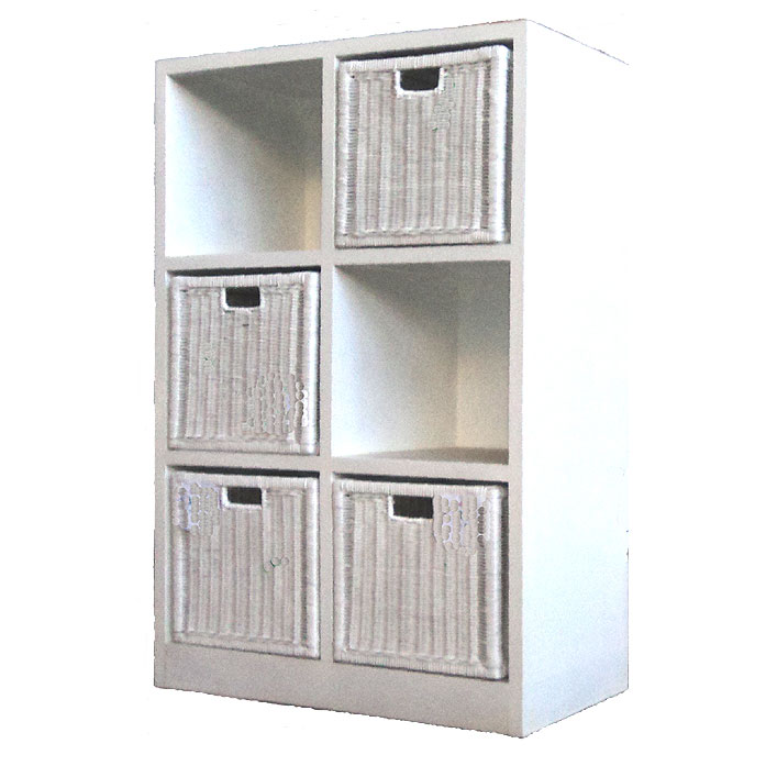 Toy Storage Shelfs, 3 Drawers, White