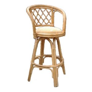 Twist Swivel Barstool, Natural