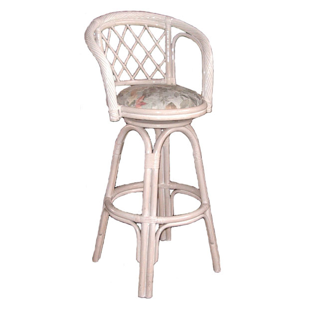 Twist Swivel Barstool, Whitewash