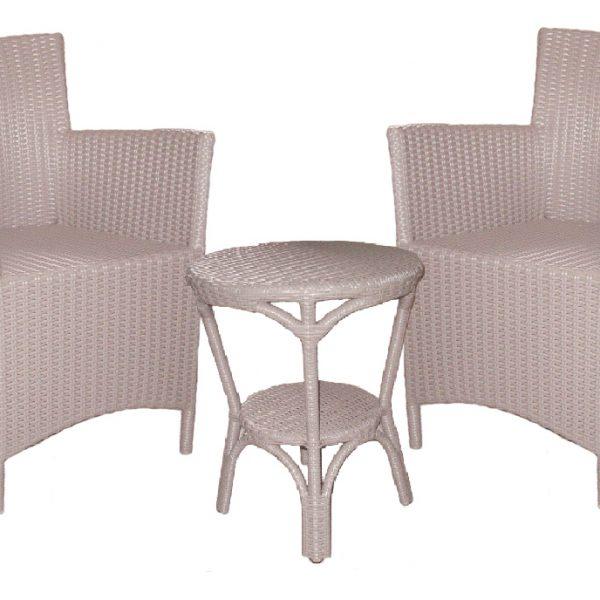 Milano Outdoor Chair, Grey Resin