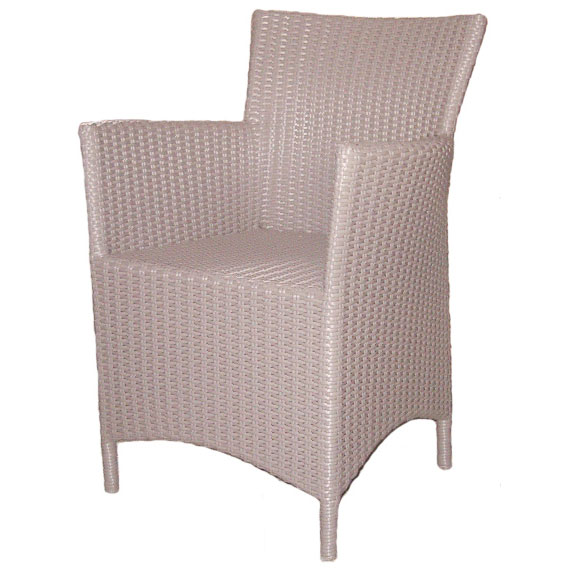 Milano Outdoor Chair, Grey Resin