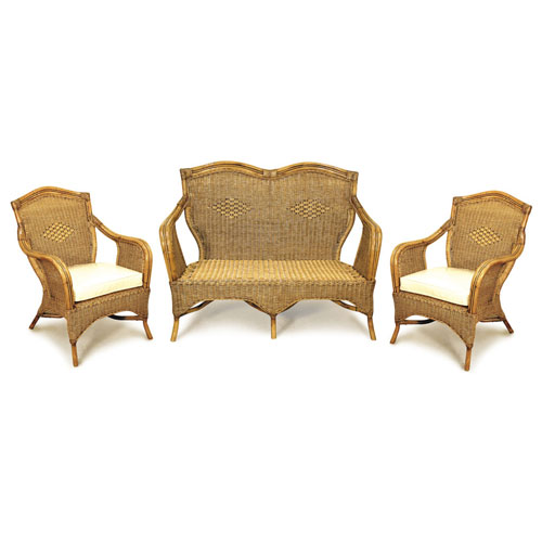 Grand Bermuda 3pce Cane Lounge Suite