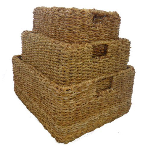 Seagrass Rectangular Storage Baskets