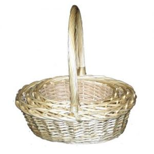 Oval Willow Hamper Baskets