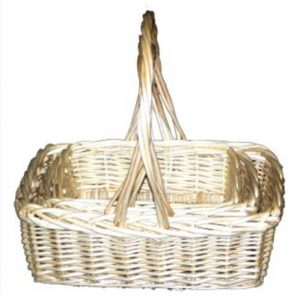 Rectangular Willow Hamper Basket
