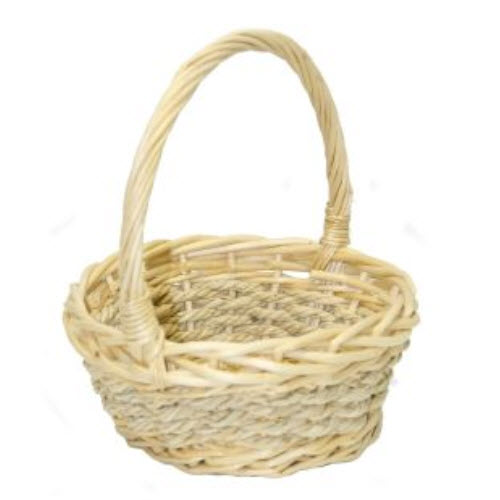 Willow and Seagrass Baskets, Natural