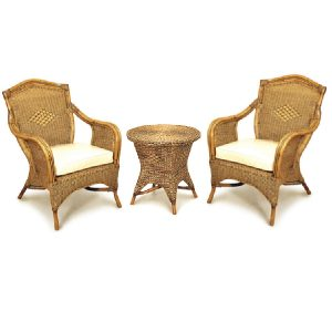 Grand Bermuda Cane Chair Set