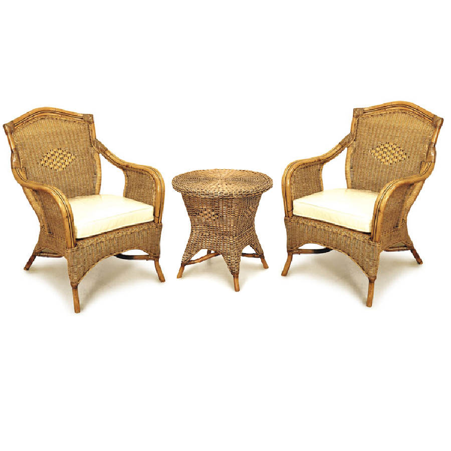 Nice Grand Bermuda Cane Chair Set