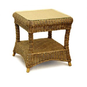 Como Square Cane Side Table
