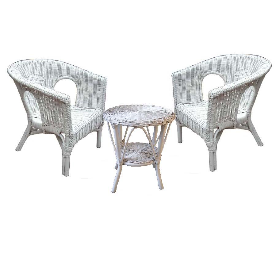 Fabian Cane Childrens' Chairs, 3pce Set