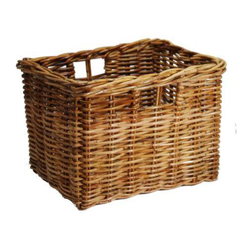 Deep Rattan Storage Basket