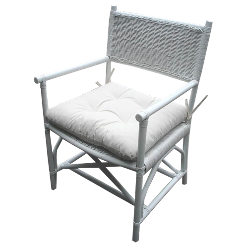 Rattan Director's Chair - available in Honey and White