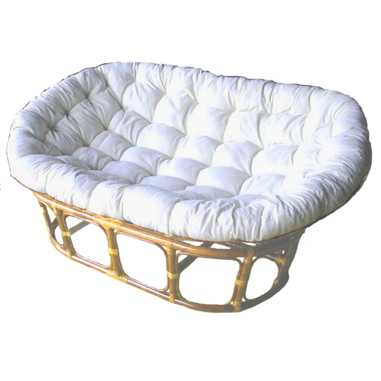 Papasan SETTEE Natural Frame & Kapok Cushion