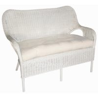Elvissa Rattan Loveseat - available in White and French Grey
