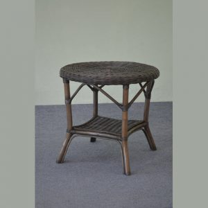 Elvissa Rattan Table - available in White, Honey and French Grey