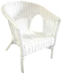 Marvelous Fabian Cane Kidu0027s Chair White