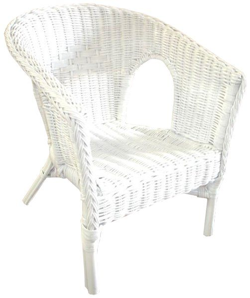 Fabian Cane Kidu0027s Chair White