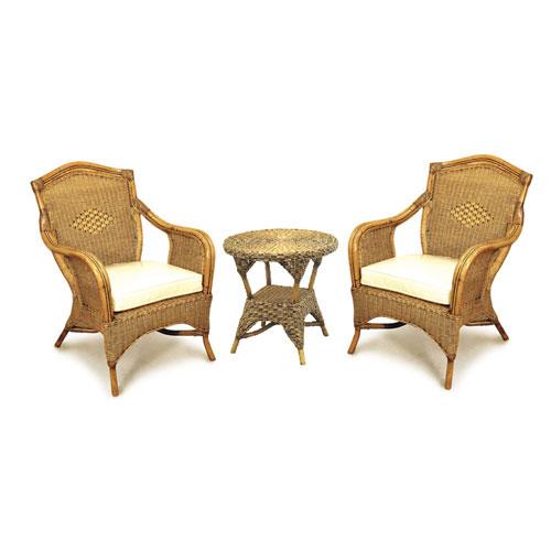 Grand Bermuda Cane Chair Set