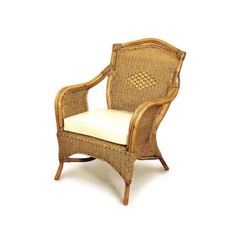 Grand Bermuda Cane Chair with cushion