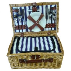Honey willow 4 place picnic basket with insulated section