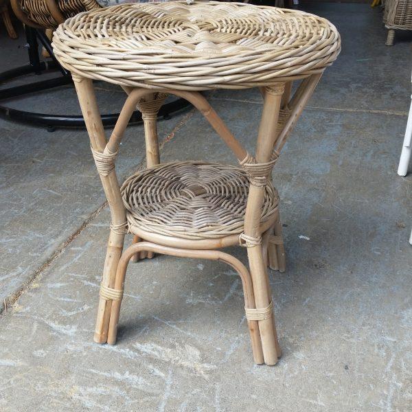 Round Kubu Grey Side Table