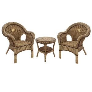 Kensington Seagrass Chair Set, 3pce