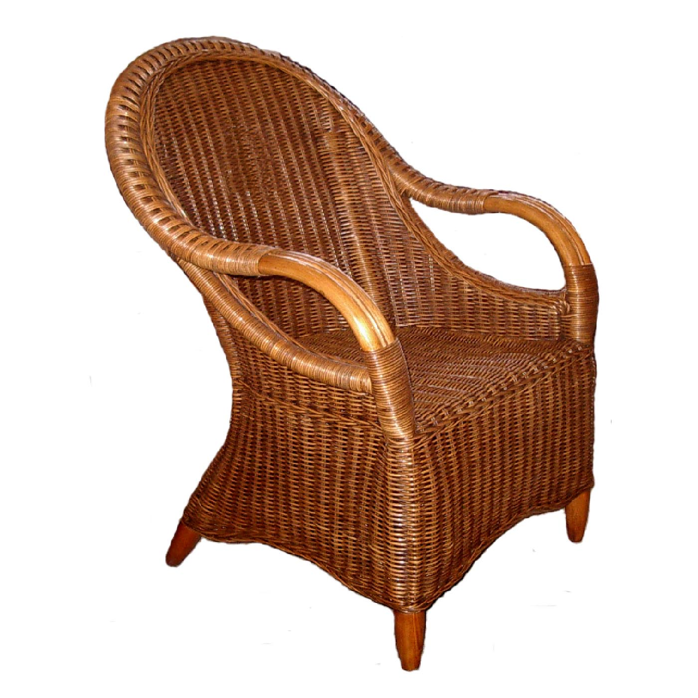 Manuel Wicker Cane Chair