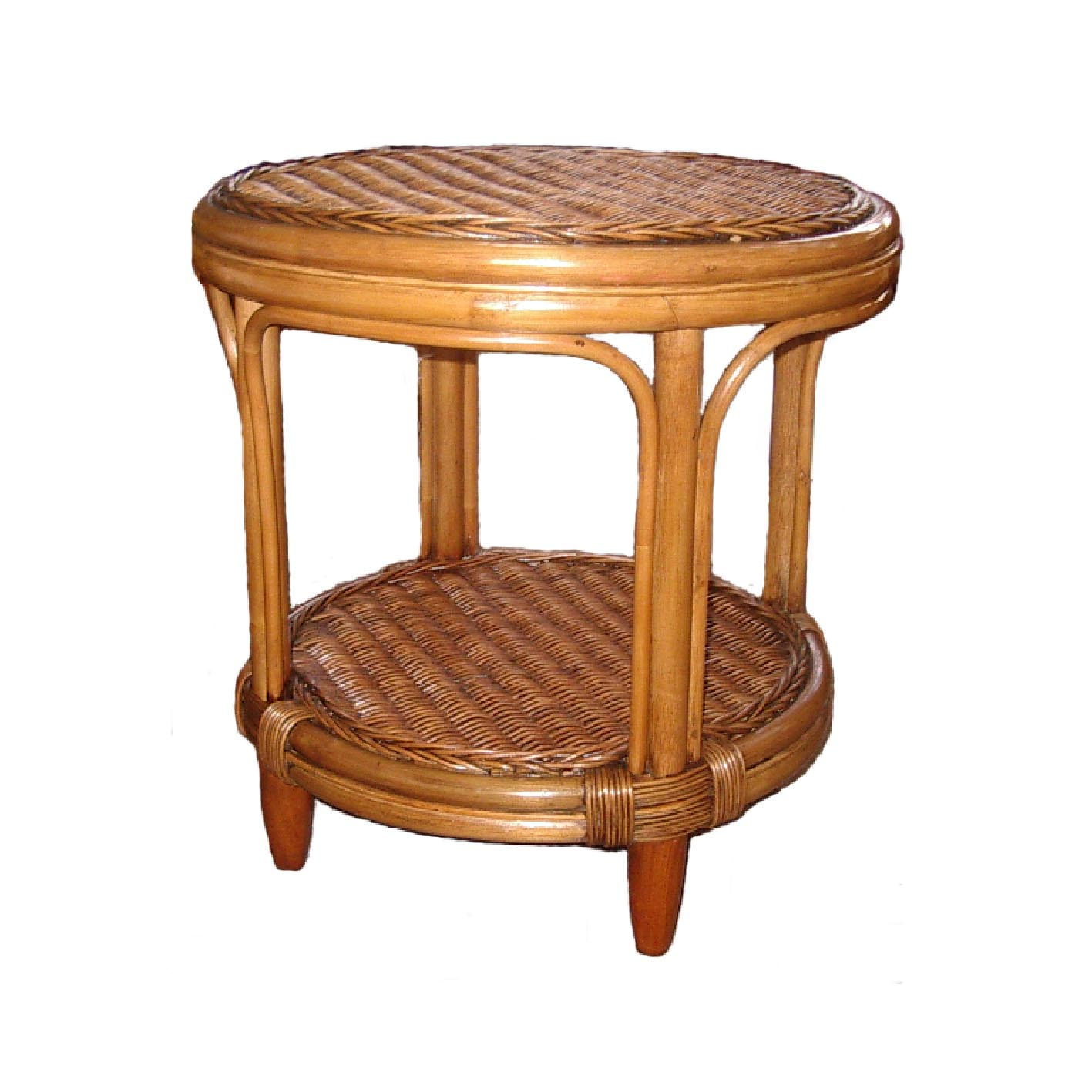 Manuel Cane & Wicker Side Table