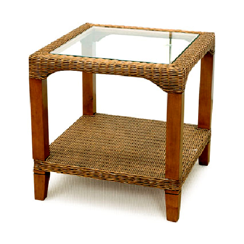 Manhattan Side Table with glass