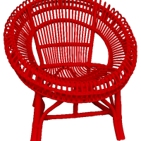 Medium Fantail Chair_bright red