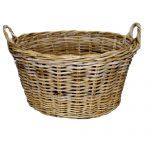Oval Washing Basket, Grey Kubu