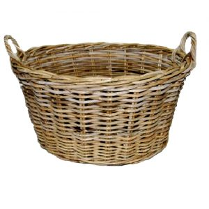 Oval Washing Basket, Grey Kubu